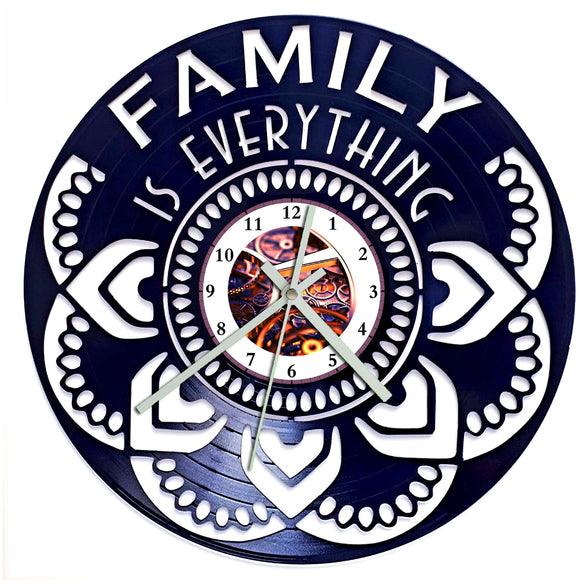 Family is Everything Mandala Clock