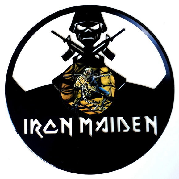 Iron Maiden with Vinyl Sticker