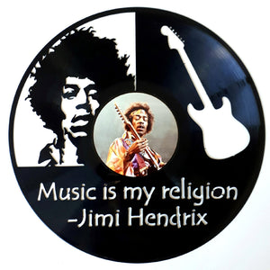 Jimi Hendrix with Vinyl Sticker
