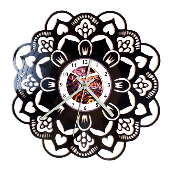 Mandala Flower Clock