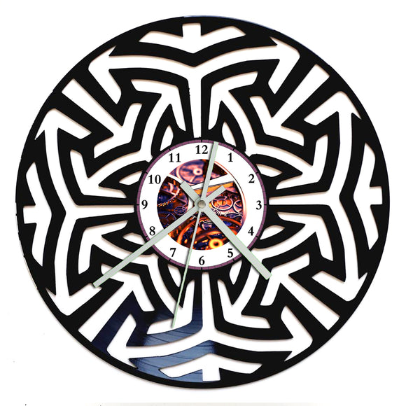 Mandala Retro Clock