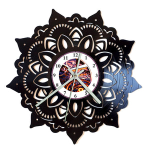 Mandala Star Flower Clock