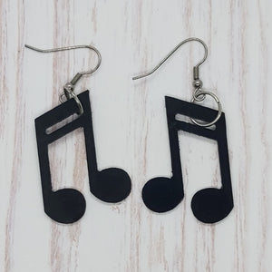 Earrings - Music Notes