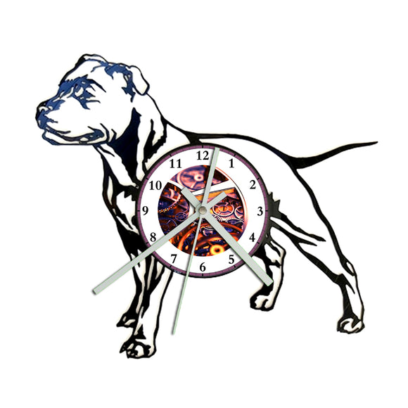 Staffy Clock