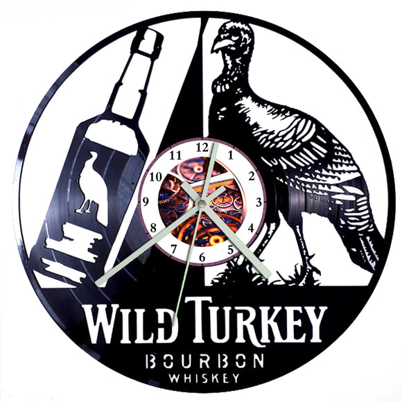 Wild Turkey Clock