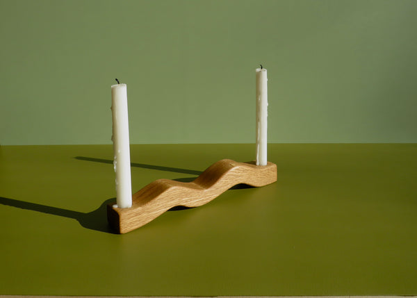 undulating candle holder