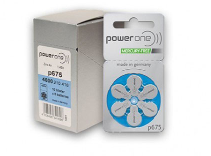 Power One Hearing Aid Batteries: 675 Box