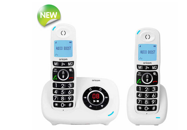 CARE820 DECT Cordless Amplified Phone Pack with Answering Machine + Additional Handset