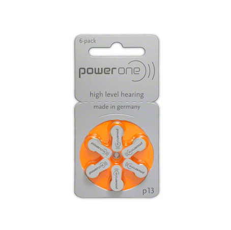 Power One Hearing Aid Batteries: 13 single pack