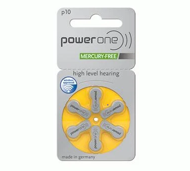 Power One Hearing Aid Batteries: 10 single pack