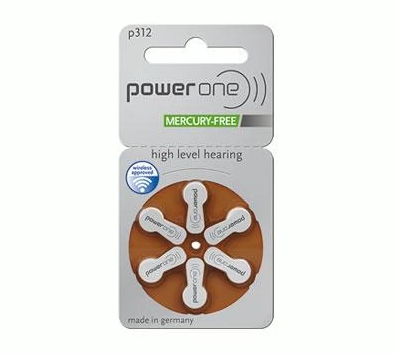Power One Hearing Aid Batteries: 312 single pack