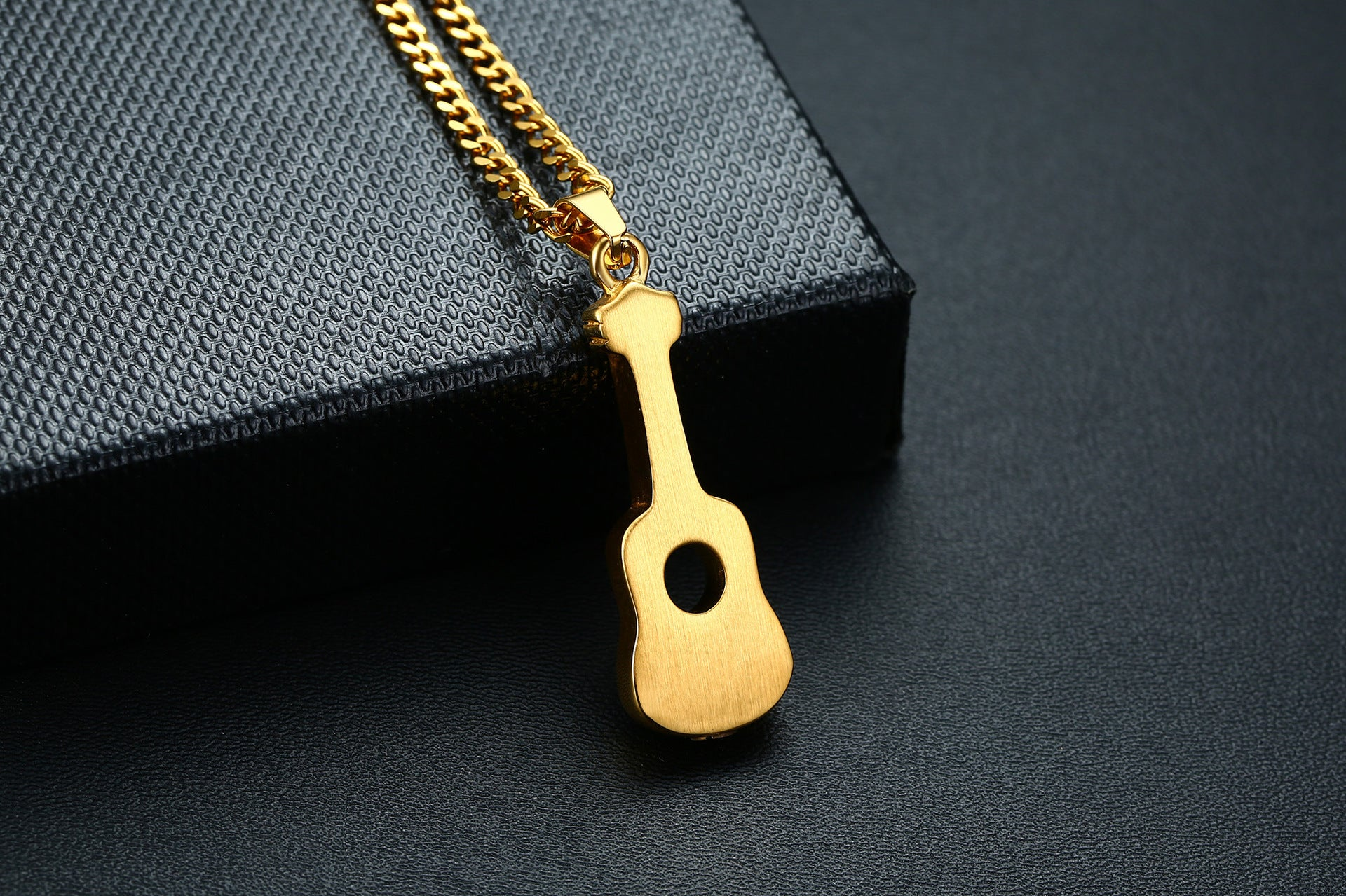Guitar Pendant Personalized Necklace Cremation Urn For Ashes Openable Love Music Jewelry