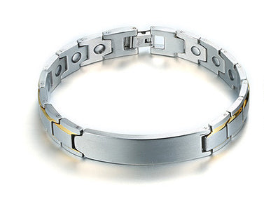 Customized Gift Magnetic Therapy Health ID Bracelet For Men