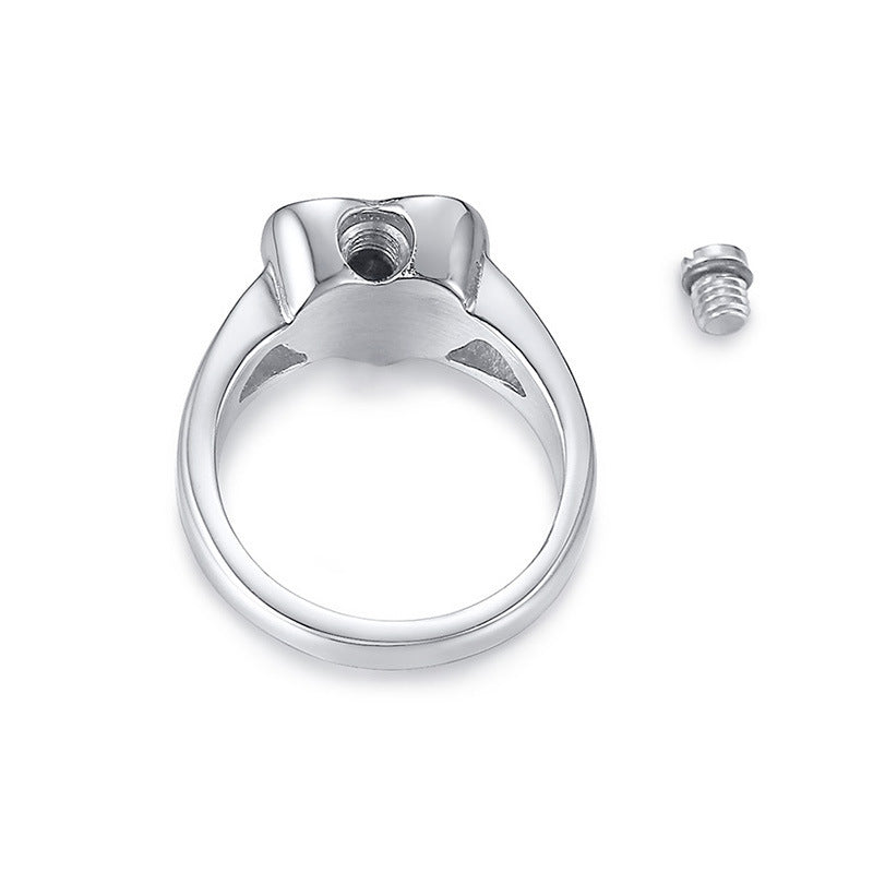 Keepsake Love Cremation Rings Urn Jewelry Can Be Opened Heart Jewelry for Ashes