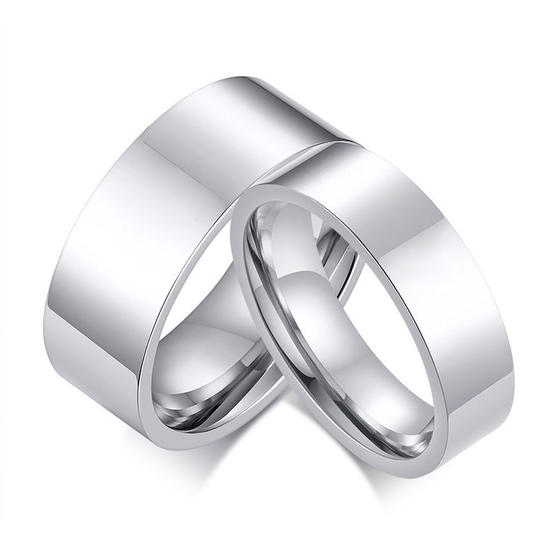 Personalized Love Couple Wedding Rings for Women Men Custom Promise Band