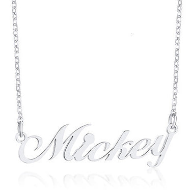 Personalized Nameplate Necklaces for Women Name Pendant Lover Valentine Day Gift