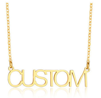 Minimalist Custom Name Necklace For Women Elegant Chokers Party Adjustable