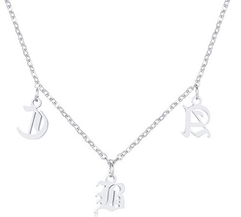 Women Men Initial Name Necklaces Name Abbreviation Chokers Stylish Letter Necklace