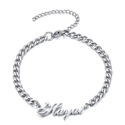 Personalized Heart Name Bracelet for Women Men Adjustable Unique BFF Sister Gift
