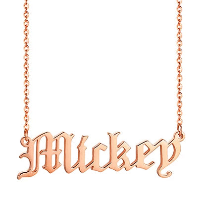 Women Personalized Name Necklace Custom NamePlate Chain With Name