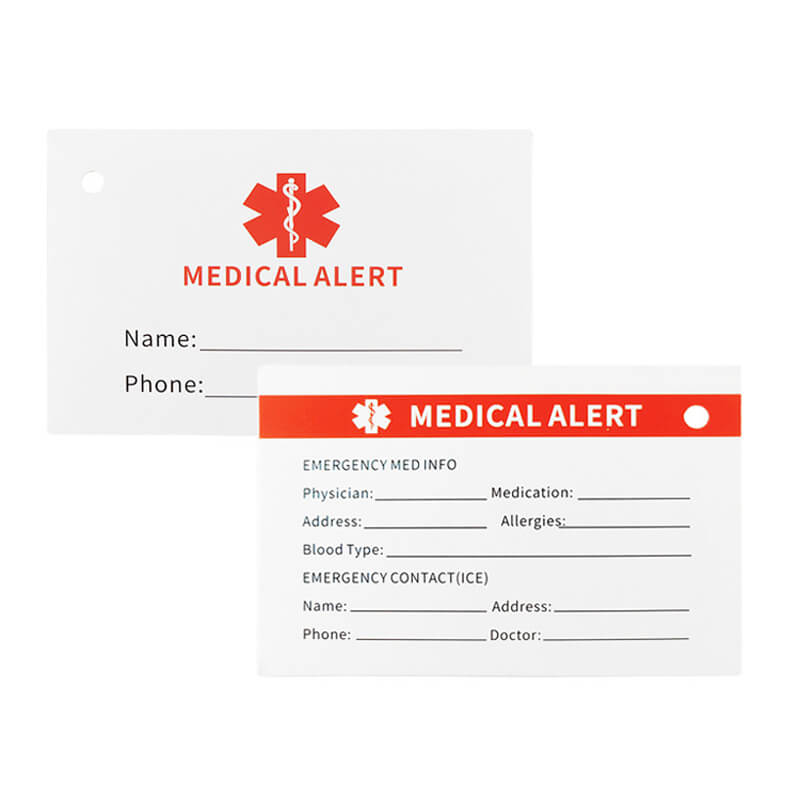 Custom Engraving Medical Alert ID Key Chain Stainless Steel ID Tag Accessory