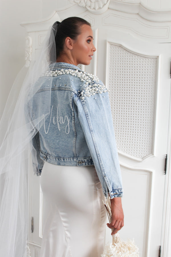 PEARL DENIM JACKET