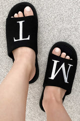 Initial Slippers Black