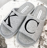 Initial Slippers Grey