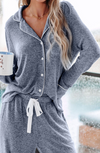 Blue and White Long Sleeve Set