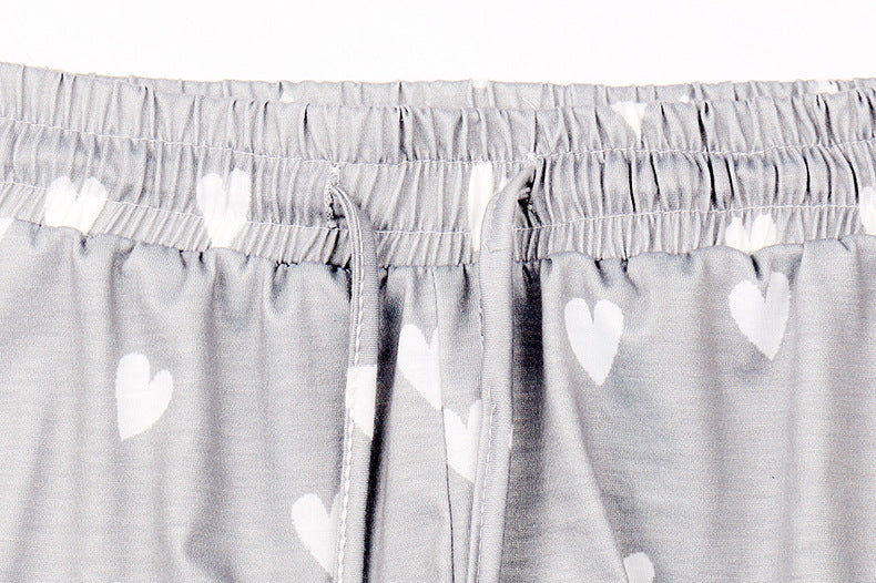 Grey Heart 2 Piece Pajama Pant Set