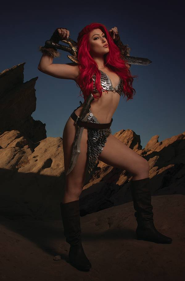 RED SONJA THE SUPERPOWERS #4 35 COPY COSPLAY VIRGIN INCV