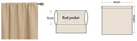 Rod pocket curtain without header