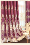 Rémy European Luxury Chenille Embroidered Curtain - Purple - Curtains Online - Discover-curtains