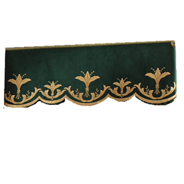 Rémy Luxury  Embroideried Velvet Valance - Curtains Online - Discover-curtains
