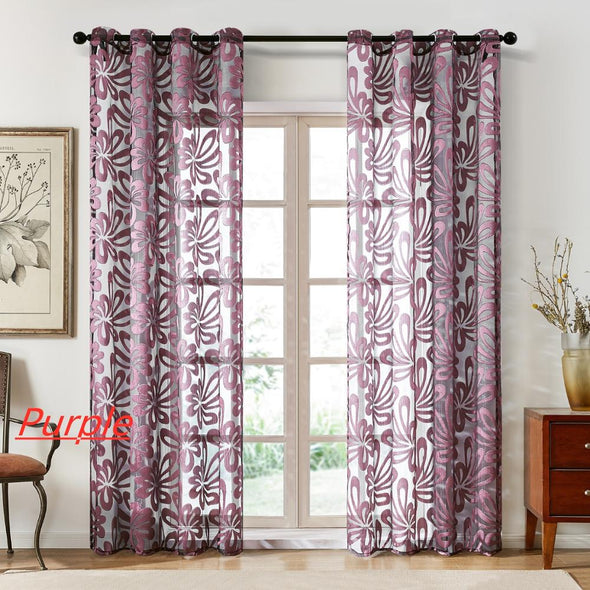 Homespun Sheer Curtains - Shiny Purple - Curtains Online - Discover-curtains