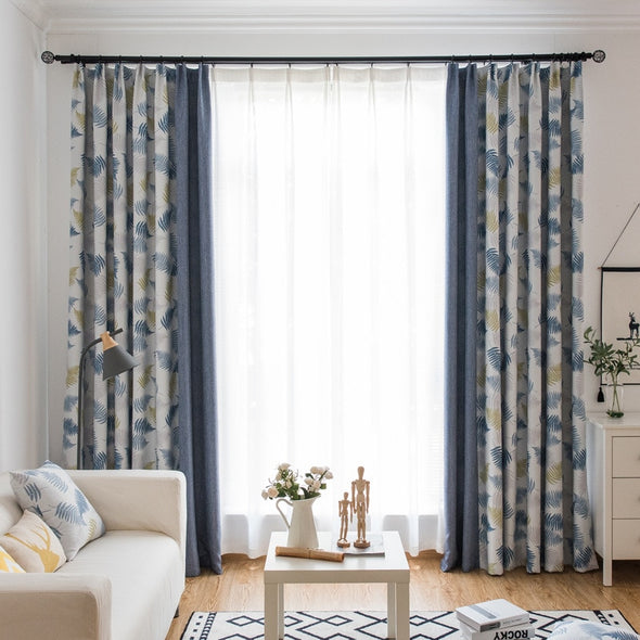 Jessica. J Europe Rice Field Theme Curtain Set - Curtains Online - Discover-curtains