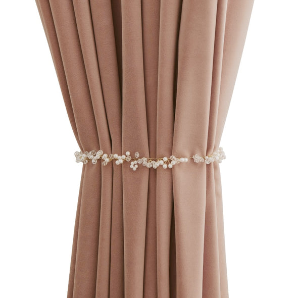 Grace Luxury Pearl Lace Curtain Tieback - Curtains Online - Discover-curtains
