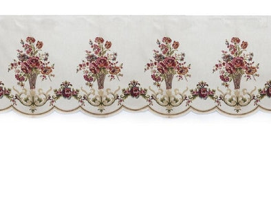Mila European Chenille Jacquard Blackout Valance - White - Curtains Online - Discover-curtains