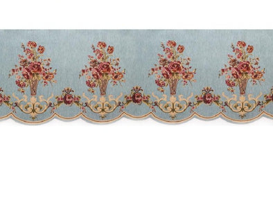 Mila European Chenille Jacquard Blackout Valance - Light Blue - Curtains Online - Discover-curtains