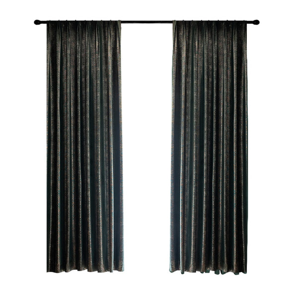 Brittany Luxury Sparkly Blackout Velvet Curtains - Green - Curtains Online - Discover-curtains