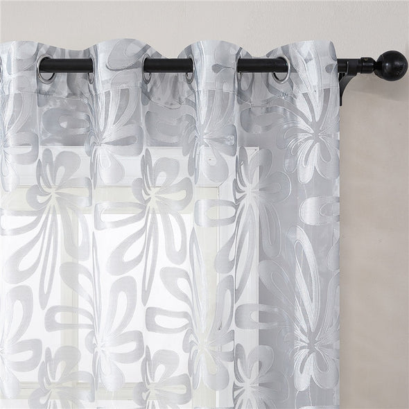 Homespun Sheer Curtain -  Silver - Curtains Online - Discover-curtains