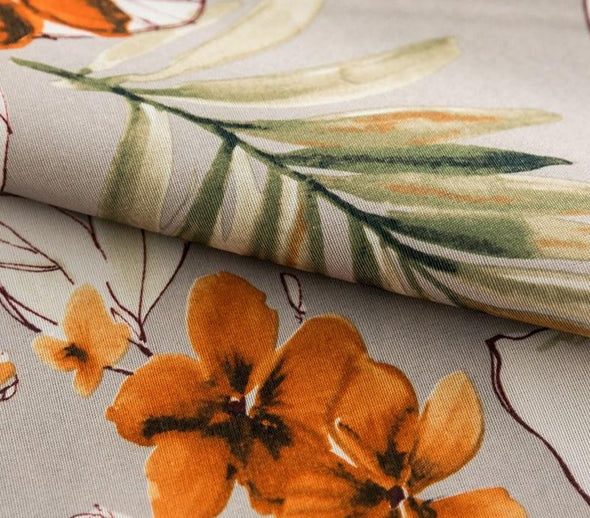 Astor Rideaux Fall Flower Printed Curtains - Curtains Online - Discover-curtains