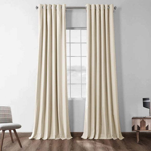 Jason Modern Solid Extra Long Blackout Curtains - Beige - Curtains Online - Discover-curtains