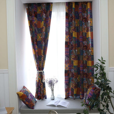 Rémy Bohemian Retro Style Semi-Blackout Curtains - Curtains Online - Discover-curtains