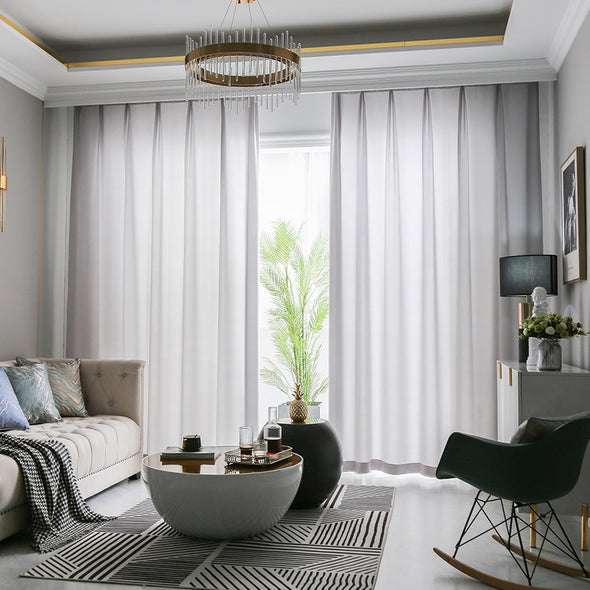 Jason Plain Crushed Sheer Curtain - Light Gray - Curtains Online - Discover-curtains
