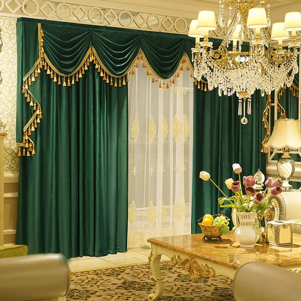 Rémy Classic Velvet Curtain - Green - Curtains Online - Discover-curtains