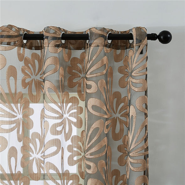 Homespun Sheer Curtain - Gold Brown - Curtains Online - Discover-curtains
