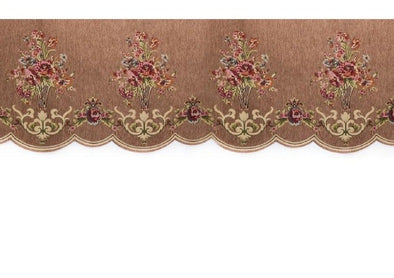 Mila European Chenille Jacquard Blackout Valance - Light Brown - Curtains Online - Discover-curtains