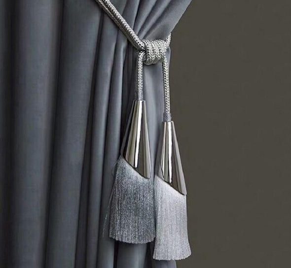 Kara Silver Bell Tieback - Curtains Online - Discover-curtains