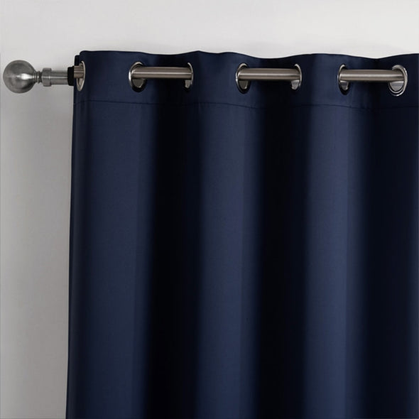 Jason Modern Plain Blackout Curtains - Blue - Curtains Online - Discover-curtains